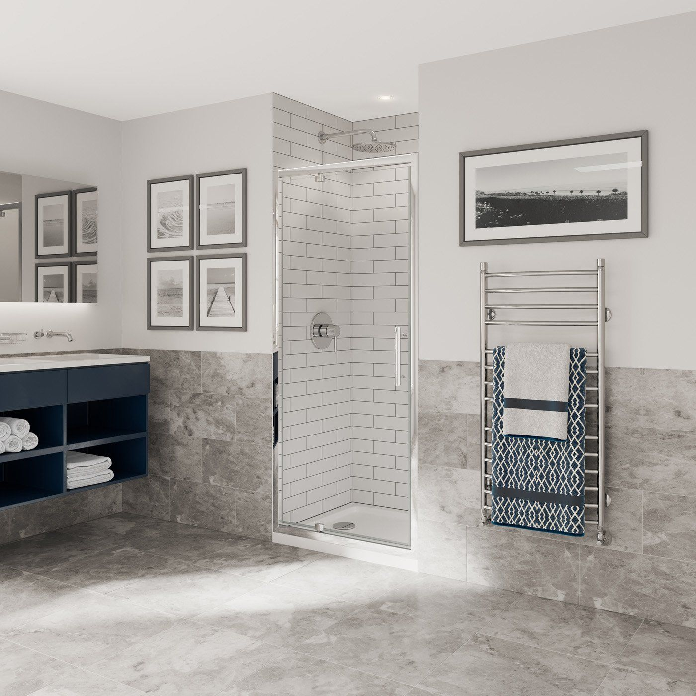 Optima 6 Pivot Door Chrome Shower Enclosure Coram Showers Shower Doors Shower Enclosure Pivot Doors