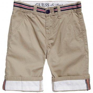 Boys Beige Cotton Chino Shorts #chinos #guess inc #boys fashion