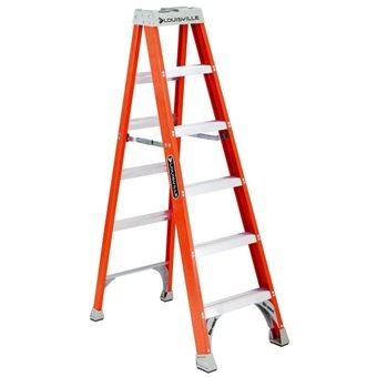 Louisville Hd Fiberglass Ladder Fs1500 Series Step Ladders Ladder Aluminium Ladder
