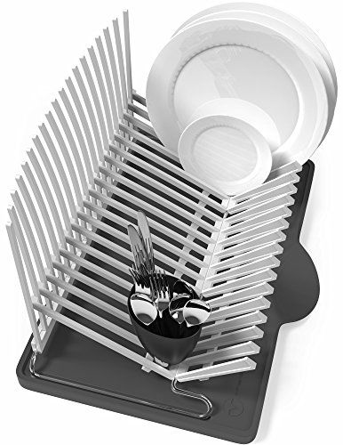 Vremi Dish Drying Rack Collapsible Dish Rack And Drainboard Set Foldable Space Saving Dish Drainer Rack Plastic Wit Dish Rack Drying Dish Drainers Dish Racks