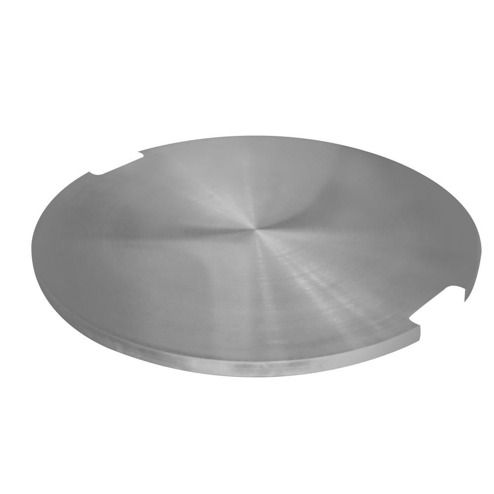 Elementi Manchester 21 In Stainless Steel Fire Pit Lid Silver
