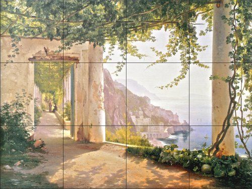 Amalfi Dia Cappuccini by Carl Frederic Aagaard - Kitchen Backsplash / Bathroom wall Tile Mural Tile Mural Store-Kitchen,http://www.amazon.com/dp/B005JJ854U/ref=cm_sw_r_pi_dp_-K7Tsb0Z2TPXKBJX