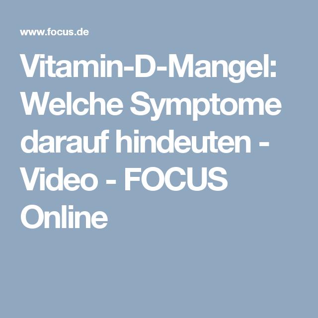 Vitamin d mangel gelenkschmerzen