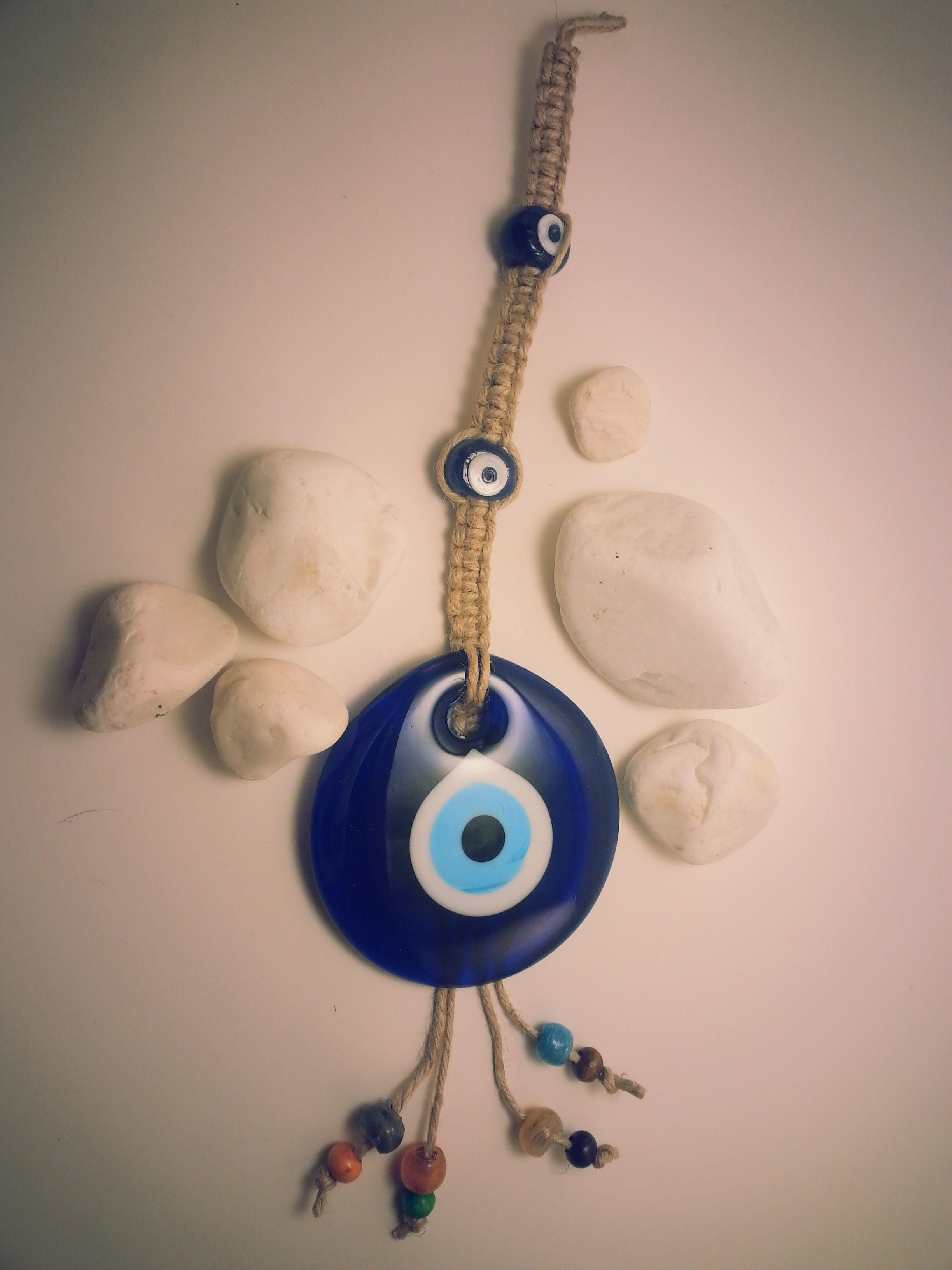 Round Blue Evil Eye Wall Decor Gl Hangin