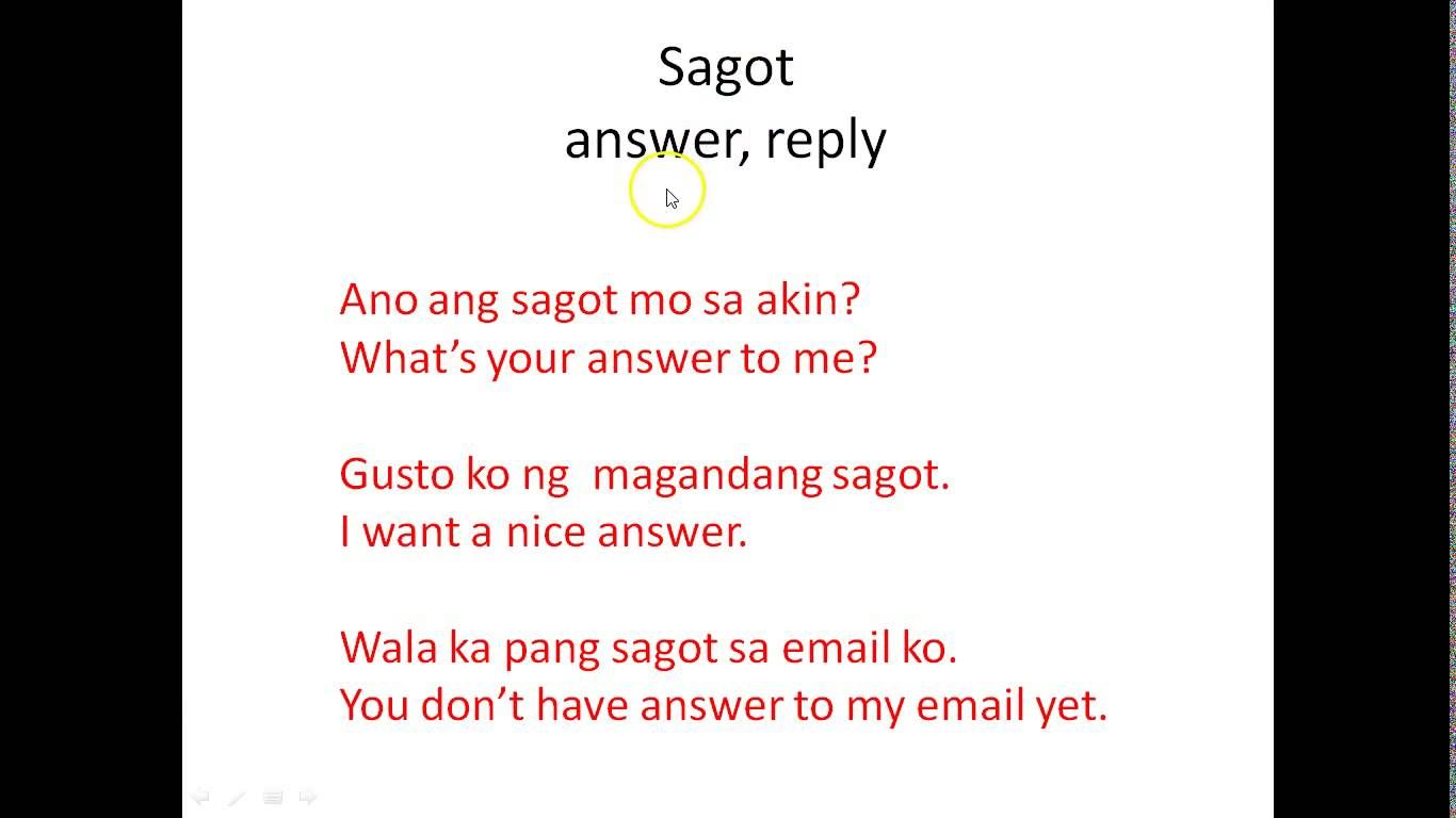 Tagalog Vocabulary 5