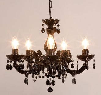 lustre baroque avec pampilles 5 branches acrylique venezia baroque pinterest baroque. Black Bedroom Furniture Sets. Home Design Ideas