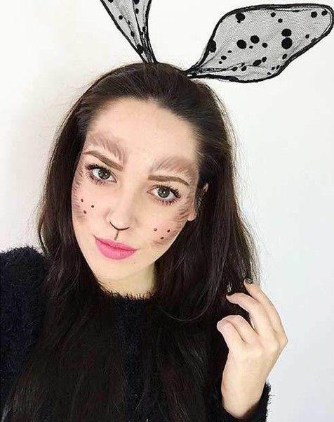 Amazing Animal Makeup Looks You Can Easily Rock This Halloween Halloween Makeup Easy Halloween Makeup Looks Bunny Halloween Makeup