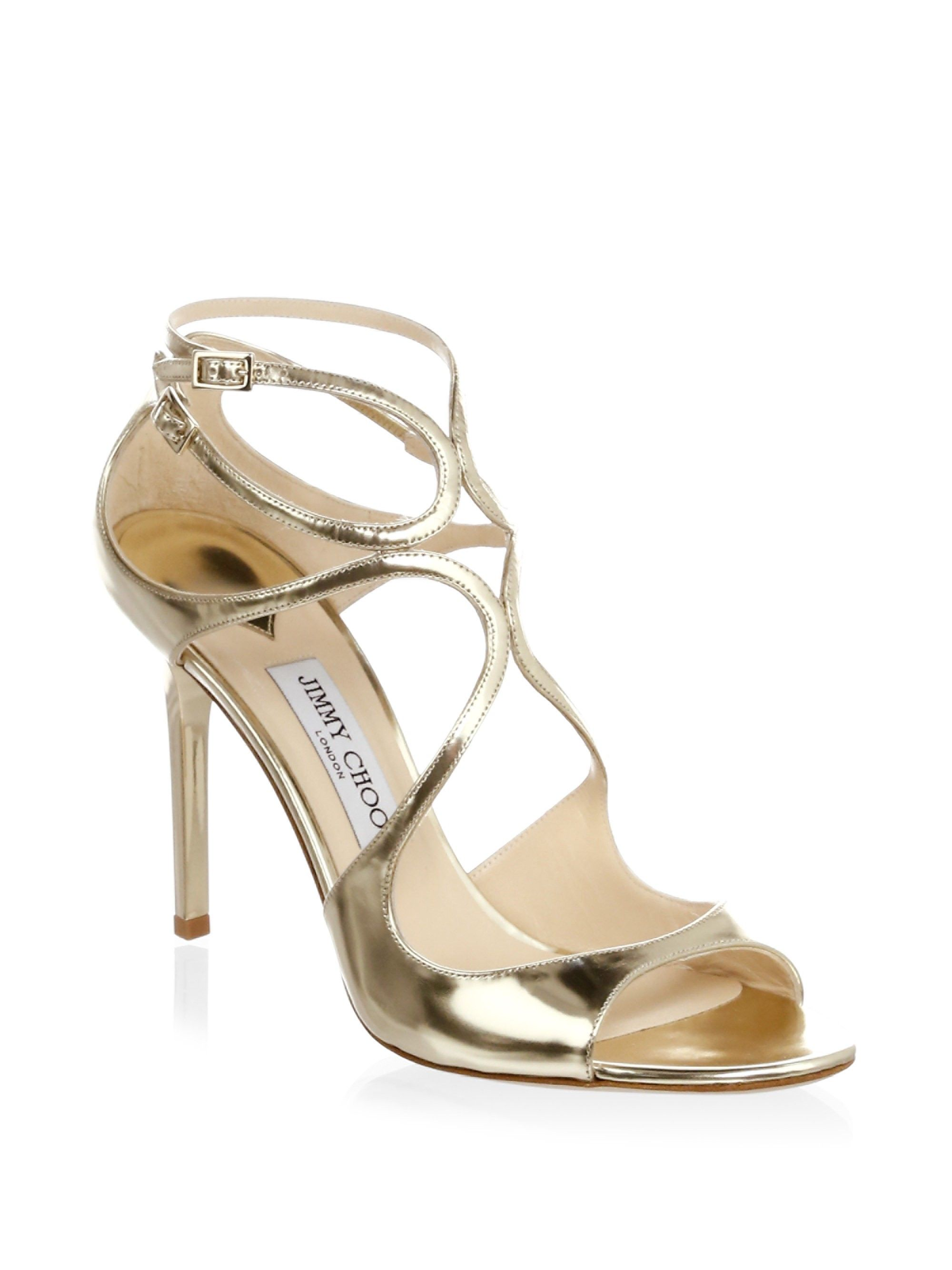 0ff8785dbe9 Jimmy Choo Pat Strappy Sandals - Gold 41.5 (11.5)