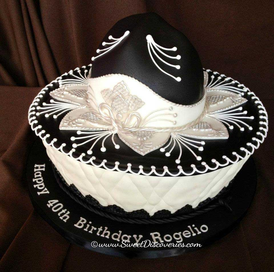 556dd8dc30528 Classy sombrero birthday cake!  sombrero  cake