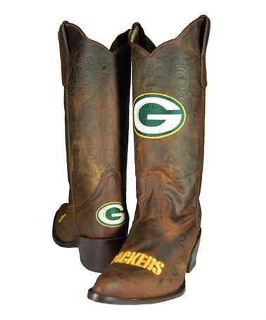 Look what I found on #zulily! Green Bay Packers Flyover Cowboy Boot - Women #zulilyfinds