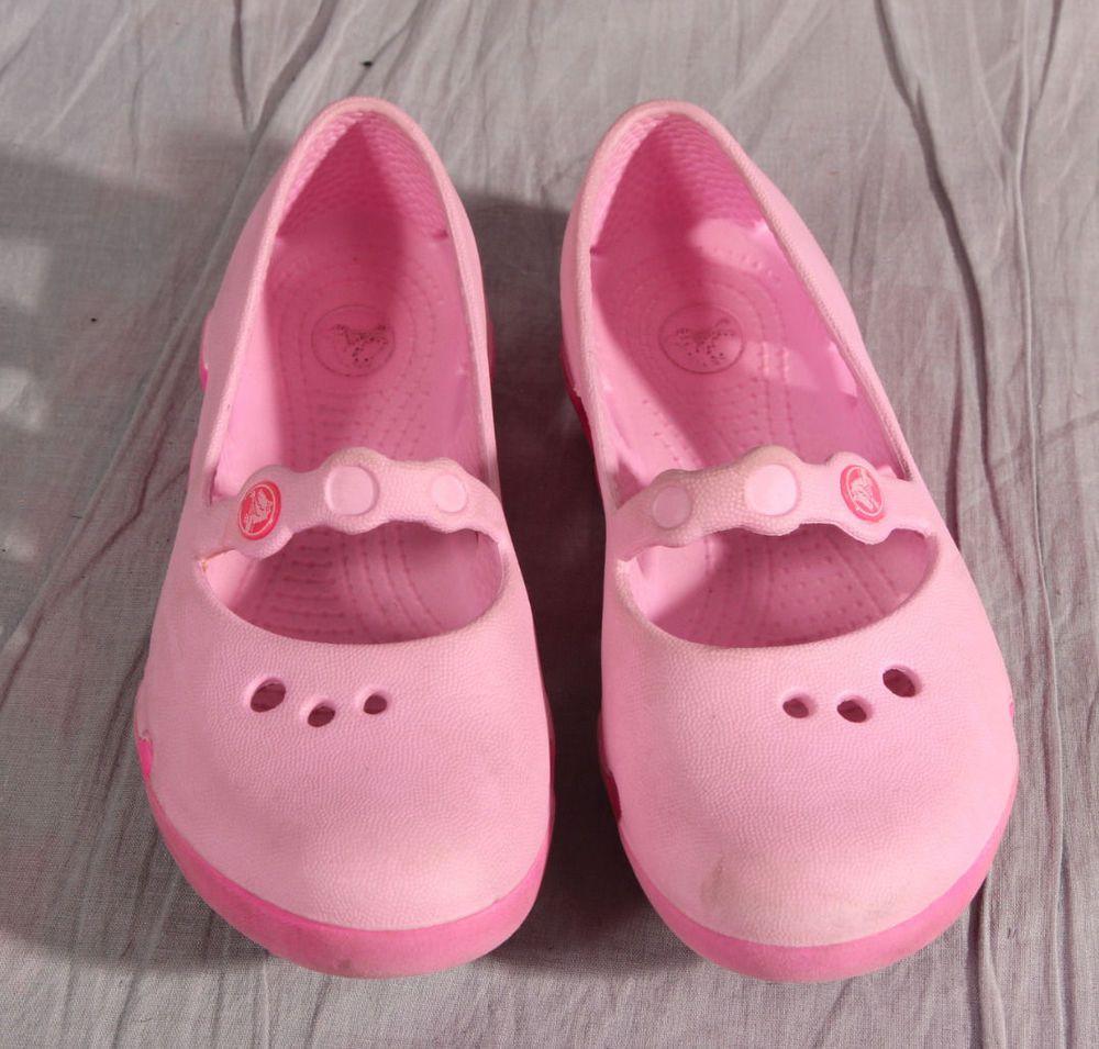 77f034ea63bc Girls Sandals Shoes Toddler Crocs Pink Rubber Size 12 Medium  Crocs  Sandals