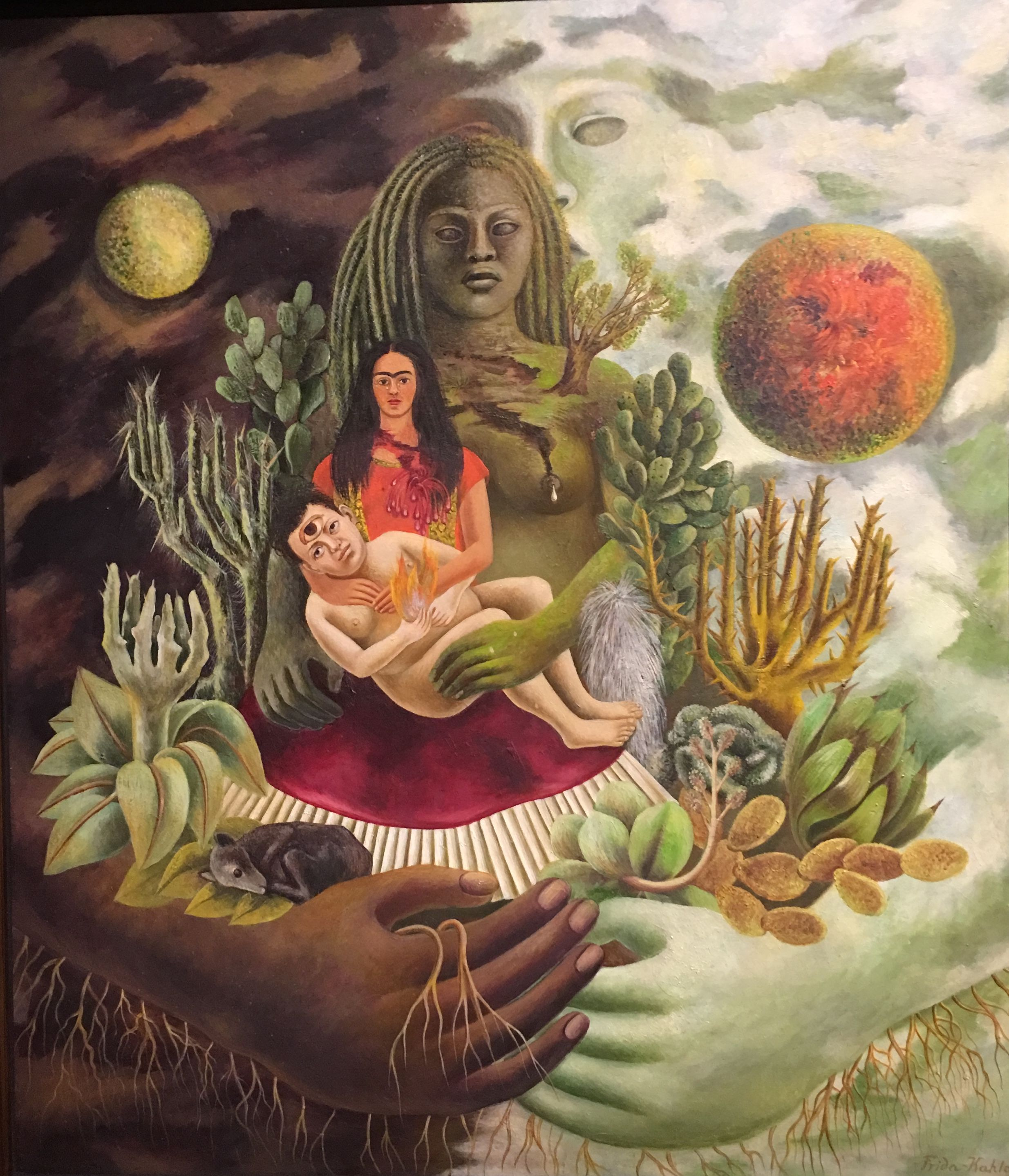 """Frida Kahlo, """"The love embrace of the universe the earth Mexico ..."""