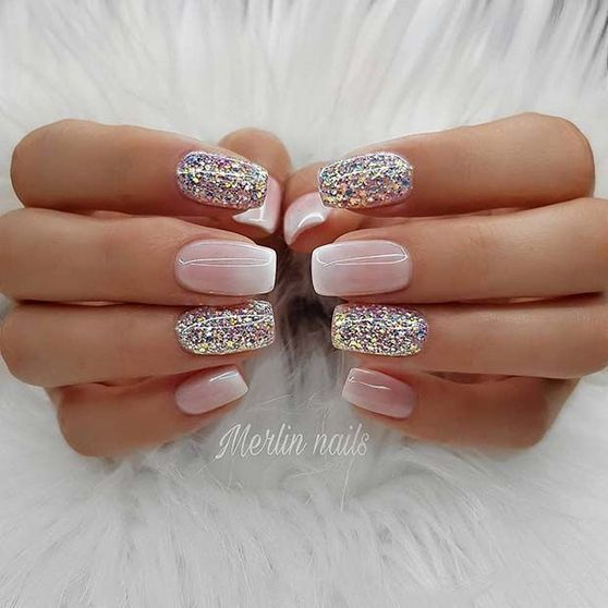 Natural Nails Designs With Glitter 06 16 Ombre Gel Nails Glitter Gel Nails Gel Nail Designs