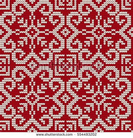 Traditional Knitting Pattern For Ugly Sweater Vector Seamless