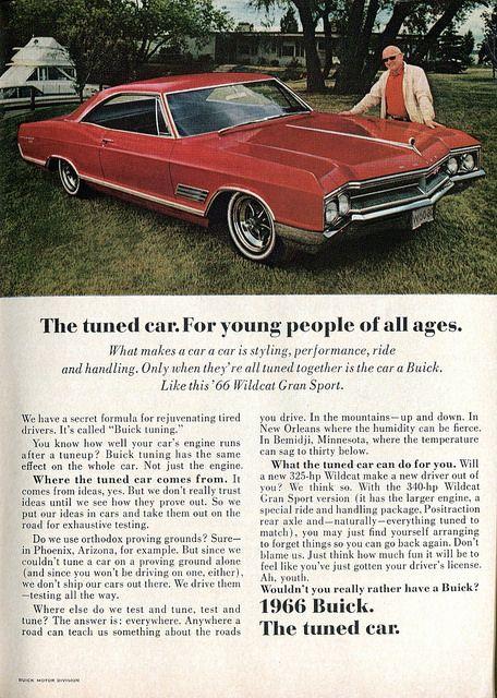 1966 Buick : buick, Buick, Wildcat, Sport, Advertisement, Readers, Digest, February, Buick,, Wildcat,, Automobile, Advertising