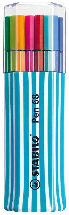 Caneta Stabilo Pen 6815-01 - Ponta 1.0Mm Estojo Single Pack Estojo Com 15 Cores