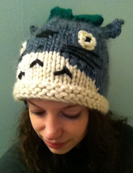 """Etsy knitted """"My Neighbor Totoro"""" Hat"""