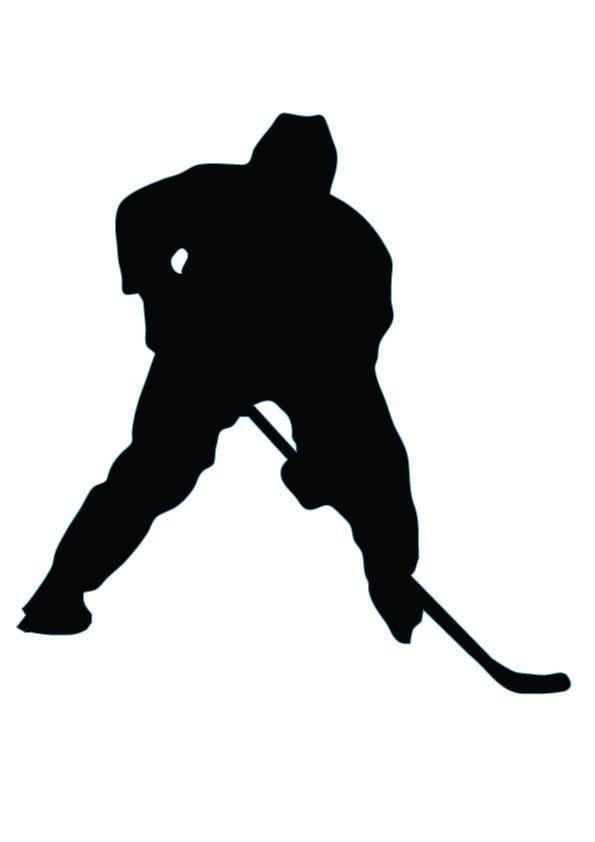 Ice Hockey Silhouette - 27 | Hockey pappers etc. | Pinterest