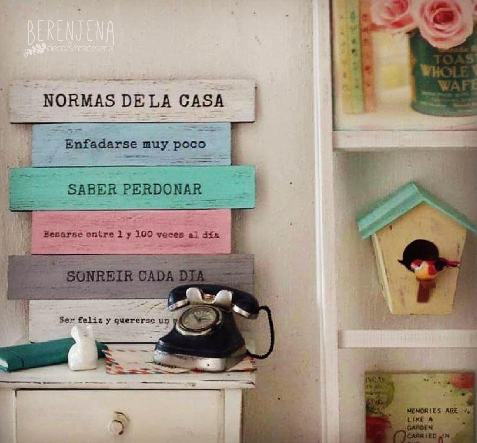 Letrero de madera normas de la casa mi casa mis reglas for Reglas de mi habitacion