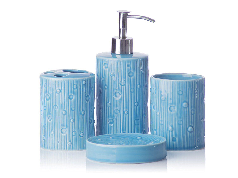 Piece Bathroom Accessory Set Soap Or Lotion Dispenser
