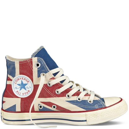 Chuck Taylor Distressed Union Jack parchment/navy/red