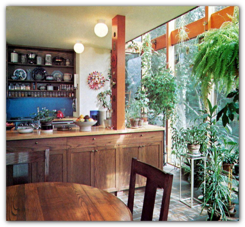 1976 modern rich hippie kitchen design floor plans serving carts baking centers appliance on kitchen decor hippie id=97717