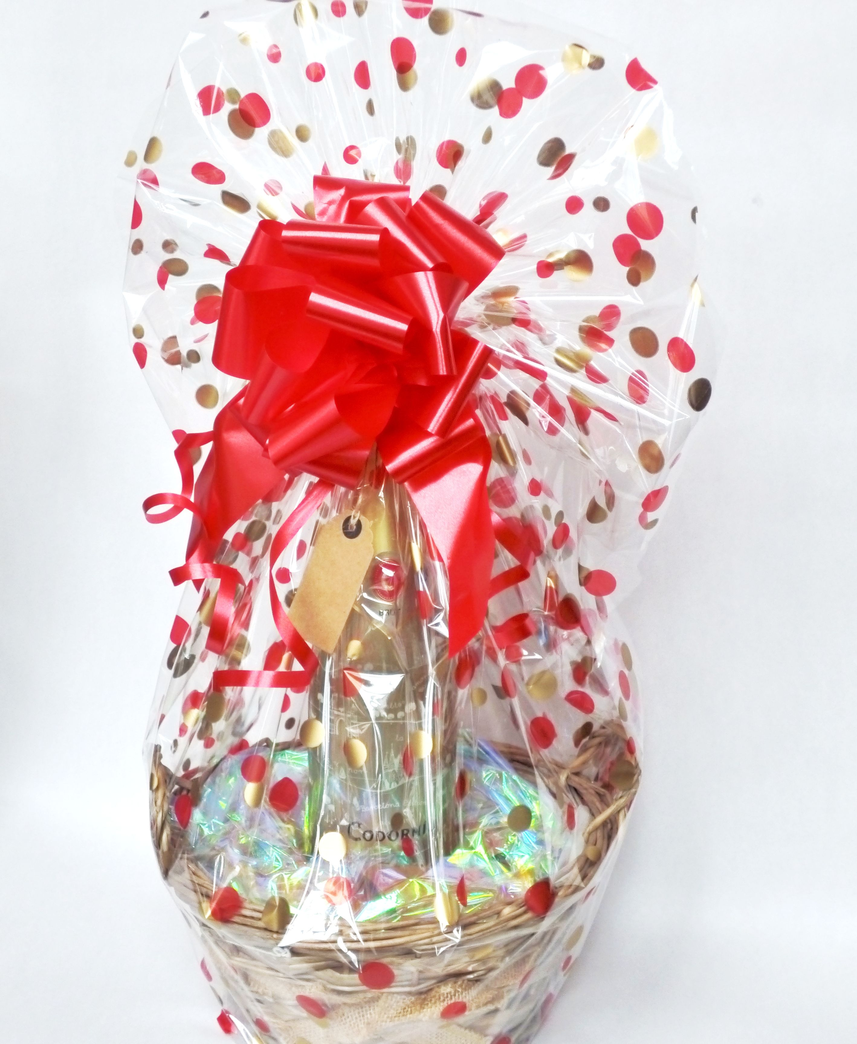 Fabulous gift basket made with our basket making kits