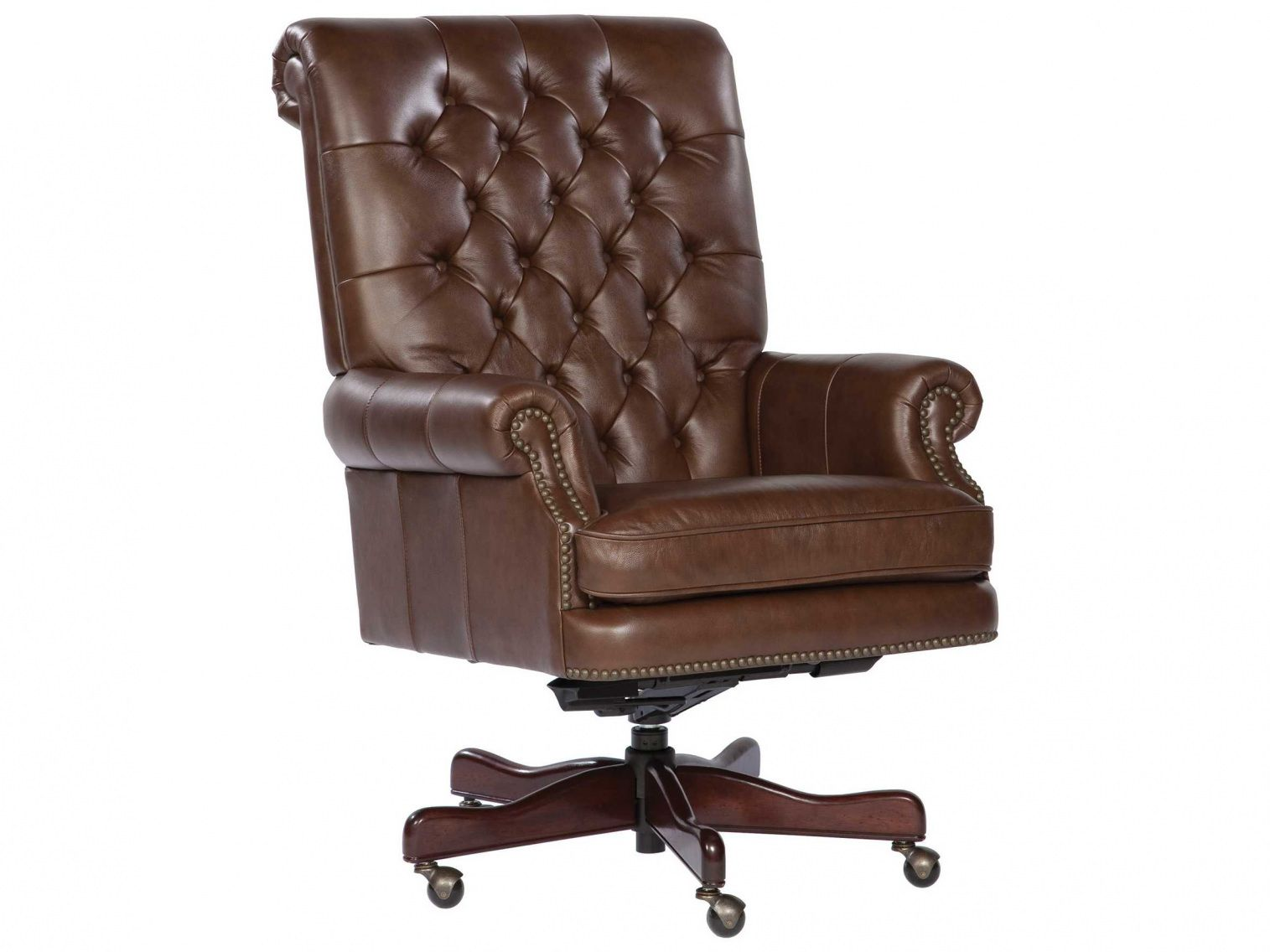 Leather Tufted Office Chair Expensive Home Office