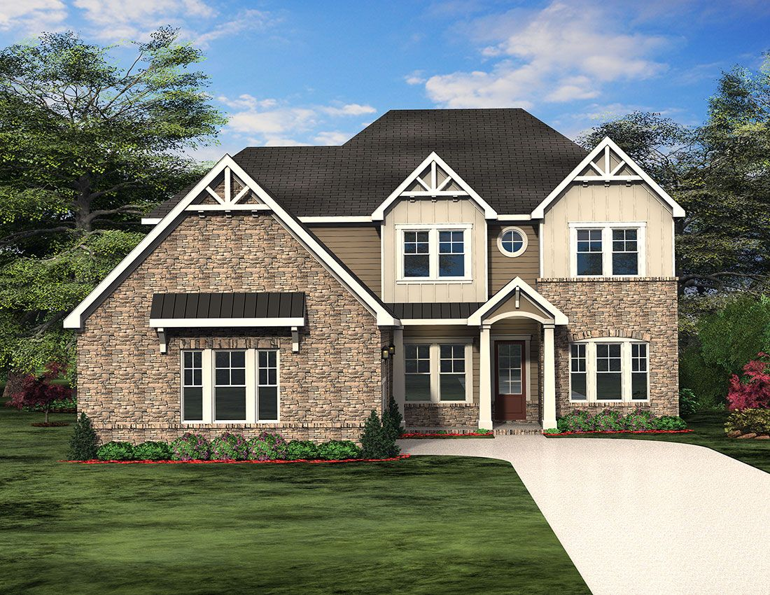 The Frederickson Floor Plan Paran Homes Floor Plans House