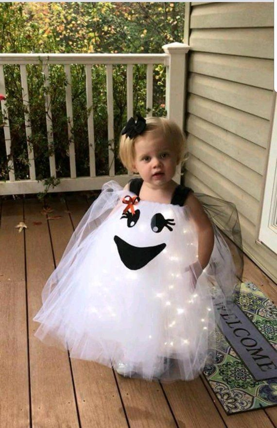 Items similar to Baby ghost costume - Halloween costume -ghost costume with LED lights -kids ghost costume- ghost costume -Happy Ghost Costume - custom order on Etsy