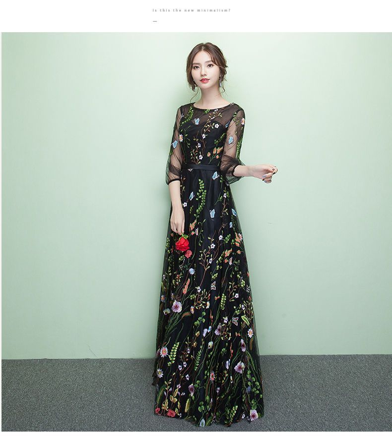 6742b4b006 Buy Rosita 3 4-Sleeve Floral Embroidered Evening Gown at YesStyle.com!  Quality products at remarkable prices. FREE Worldwide Shipping available!