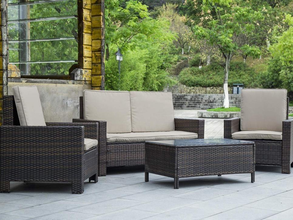 Best Patio Furniture Under 500 Hgtv Com Hgtv Patio Furnishings Patio Sofa Set Gray Patio Furniture