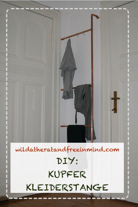 DIY KUPFER KLEIDERSTANGE Kleiderstange, Diy
