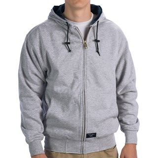Walls Workwear Zip Up Hoodie Sweatshirt Thermal Lining For Men