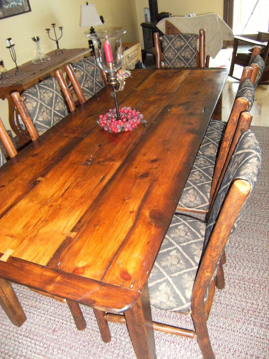 Rustic Farm Table Rustic farm table, Live edge wood