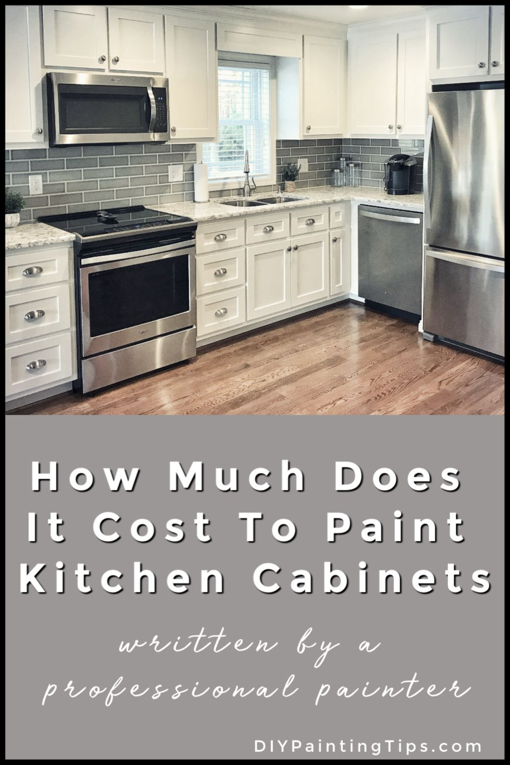 How Much Does It Cost To Paint Kitchen Cabinets In 2020 Kitchen Paint Painting Kitchen Cabinets Diy Interior House Painting