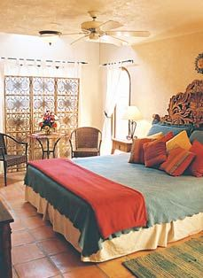 mexican style bedroom accents color and lighting