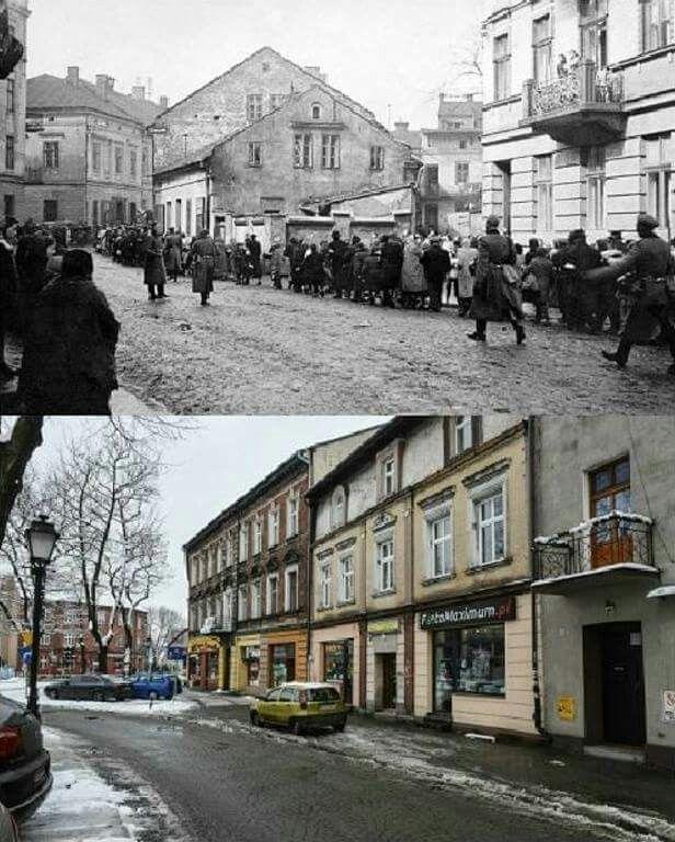 Then & Now the town of Auschwitz/ Oswiecim