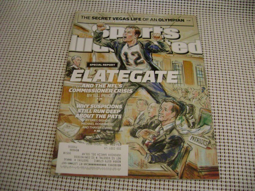 2015 SPORTS ILLUSTRATED magazine PATRIOTS Deflategate