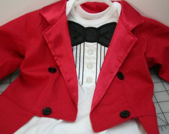 Circus Ringmaster Tuxedo Jacket with Tails - Fully Lined in Satin - Birthday, Wedding, Photo Prop, Circus Ringmaster, Christmas, New Year's