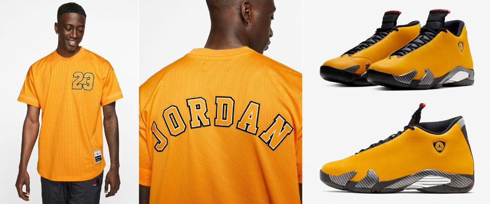 Jordan 14 Yellow Reverse Ferrari Jersey