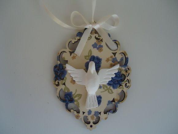 Pingente Com Divino-Casamento | Fuxicando Arte em Tecido | Elo7