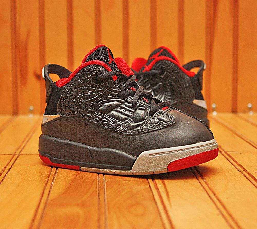 4fd97fa43c9f01 2016 Nike Air Jordan Dub Zero Size 6C - Black Red Wolf Grey White - 311072  013
