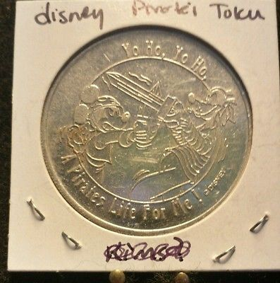 Vintage-Disney-A-Pirates-Life-for-Me-Coin-Token-Medallion-Approx