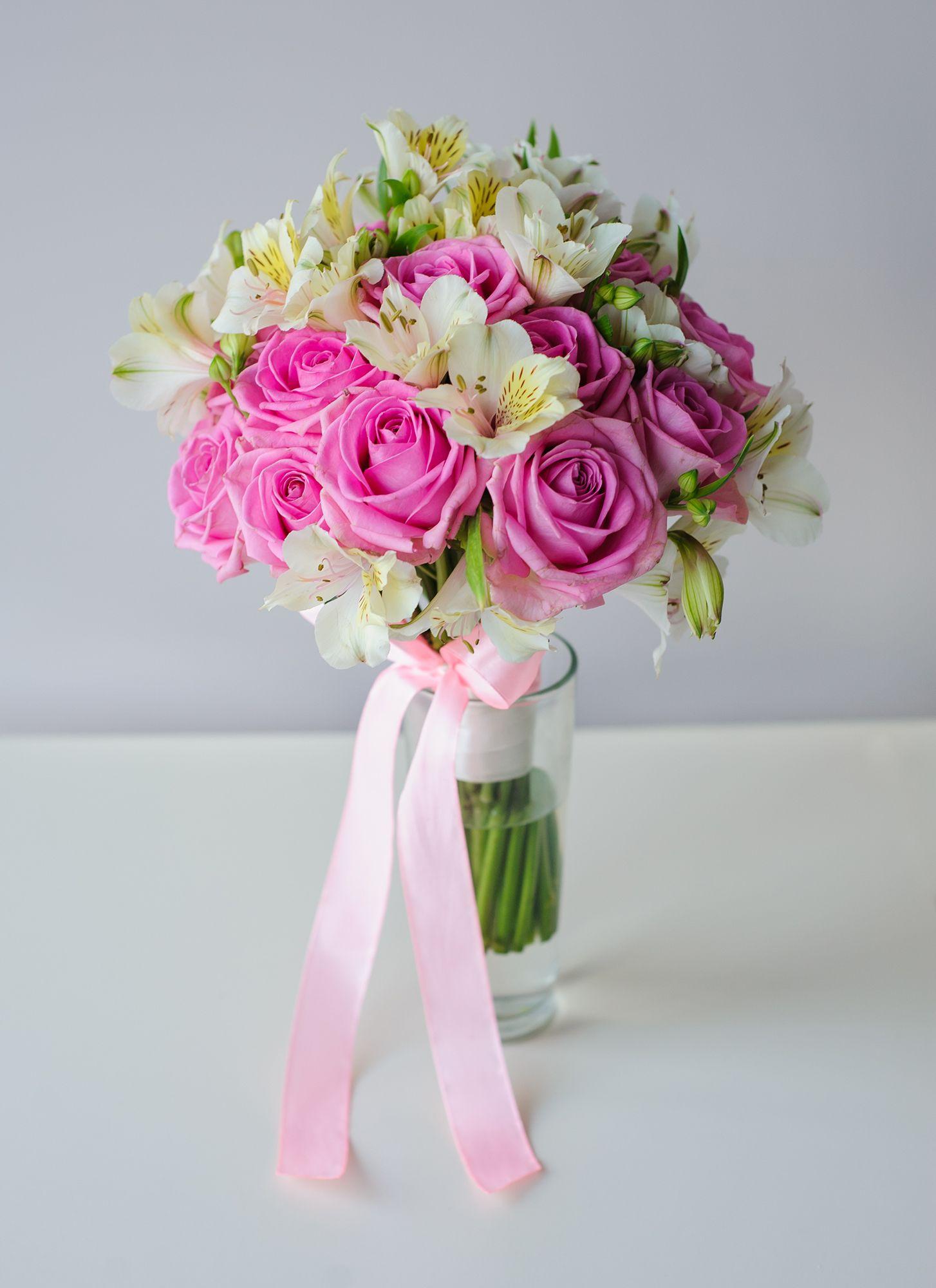 Красивые букеты, букет невесты ника с розами