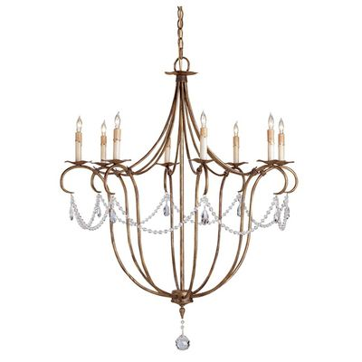 French country antique gold chandelier with delicate crystals from belle escape epicureanpiranha