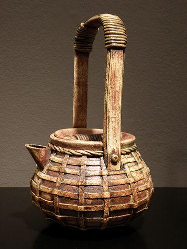Teapot in Ikebana Style by Jenifer Fitzgerald