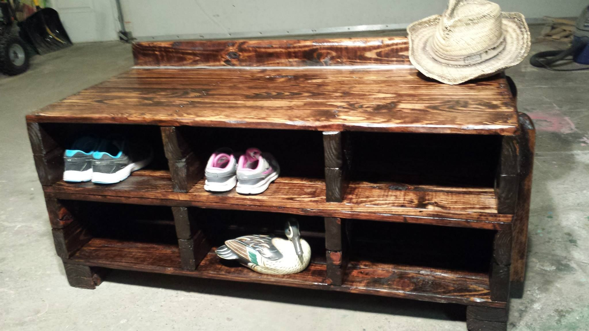 Entry Way Bench Shelf For Shoes Things Handmade From Re Claimed