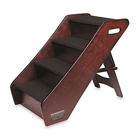 Animal Planet Wooden Pet Steps Safely Carries Your Pet To