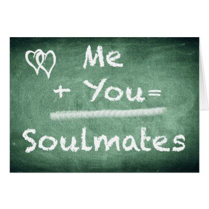 Me you soulmates romantic greeting card valentines day gifts me you soulmates romantic greeting card valentines day gifts love couple diy personalize for m4hsunfo